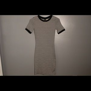 H&M Divided black and white striped dress